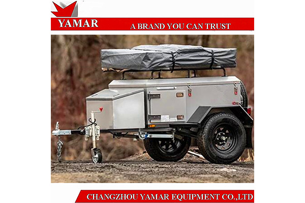 Soft roof top tent camper trailer